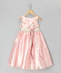 Take a look at this Pink & Sage Dress - Toddler & Girls by Kids Dream on #zulily today!