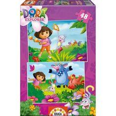 Puzzles de #DoraExploradora 2x48, por sólo 6.08€!