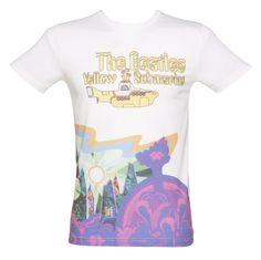 Men's Off White Yellow Submarine #Beatles T-Shirt xoxo