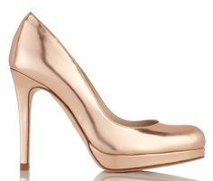 Christian Louboutin heels metallic peep toe platforms
