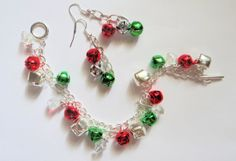 Jingle Bell Bracelet & Matching Earrings Holiday by JWBoutique1, $12.00