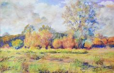 'Magor marsh' by Wendy Child. 28 x 38cm   Pastel painting of an endangered area of the Gwent levels in Magor.
