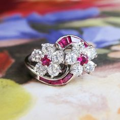 Find Estate Vintage Oscar Heyman Ruby Diamond Bypass Ring Platinum on Antique Vintage Estate Jewelry Ruby Jewelry, Pandora Jewelry, Gemstone Jewelry, Fine Jewelry, Ruby Gemstone, Diamond Solitaire Earrings, Ruby Diamond Rings, Ruby Rings, Vintage Rings