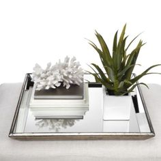 Charmant Pascual Mirrored Tray