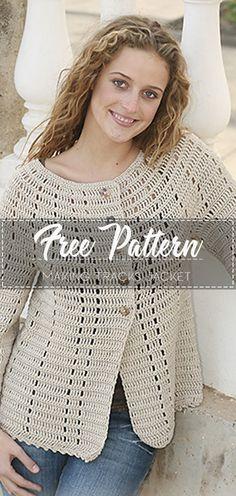Making Tracks Jacket – Pattern Free – Easy Crochet Source by freepatternslove Crochet Jacket Pattern, Crochet Coat, Crochet Cardigan, Crochet Clothes, Crochet Patterns, Crochet Sweaters, Moda Crochet, Free Crochet, Easy Crochet