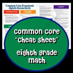 Teachers Notebook - 8th Grade Math Standards