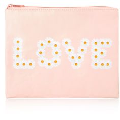 FOREVER 21 Daisy Love Makeup Bag (16 BRL) ❤ liked on Polyvore featuring bags, clutches, purses and makeup