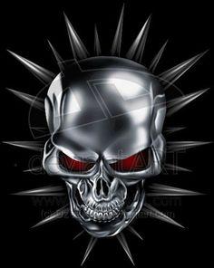 Kolce by on DeviantArt Totenkopf Tattoos, Skull Artwork, Skull Drawings, Skull Wallpaper, Scary Wallpaper, Skull Pictures, Photoshop Images, Skull Face, Skull Tattoos