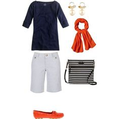 Love the total outfit. Little leary of white shorts. I'd have to try on shorts of this cut/style Over 50 Womens Fashion, Fashion Over 50, Look Fashion, Fashion Outfits, Fashion Black, Fashion Fashion, Fashion Brands, Fashion Ideas, Vintage Fashion