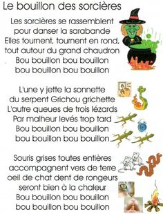 Le bouillon des sorcières et la comptine du Boo ! - [ École Villemaire] Halloween Poems, Theme Halloween, Halloween Activities, Halloween 2018, Halloween Gifts, Fall Halloween, Activities For Kids, Crafts For Kids, Halloween Costumes