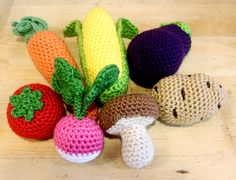 Crocheted Baby Veggies! I must learn to crochet before I die.  But if I don't,  then someone please toss some of these in my casket.