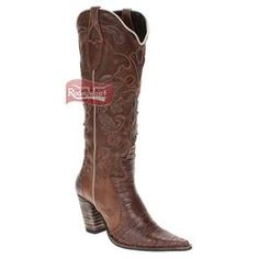 Bota Texana Feminina Casco de Tatu Café Cano Alto com Zíper - West Country Estilo Country, Texans, Cowboy Boots, Fashion, Canoe, Loafers & Slip Ons, Women, High Tops, Chic