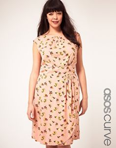 ASOS CURVE Exclusive Dress in pretty floral