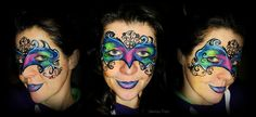 damask face painting