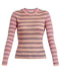 b31ef67e725c9 Acne Studios Rutmar striped cotton-blend sweater at MATCHESFASHION.COM Acne  Studios