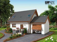 projekt domu letniskowego Small Modern House Plans, Small House Design, Tiny House Plans, American Style House, A Frame House Plans, Model House Plan, Outdoor Pergola, Big Houses, Cottage Homes