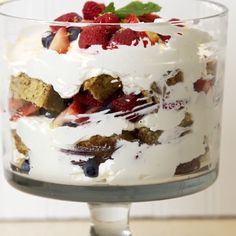 Simple, delicious and stunning! This healthy triple berry trifle dessert is perfect for Easter or any Spring Summer gathering.