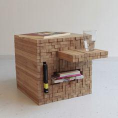 PixelTable (via http://studiointussen.nl/website/shop/pixel-table/ though it seems like it's not for sale atm)
