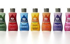 """New #plastic #packaging for Rit DyeMore: """"The vibrant new design is an exuberant celebration of color that aims to elevate the crafting experience to a professional level."""""""