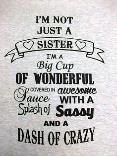 Best Brother Quotes and Sibling Sayings Collection From Boostupliving. Here we've collected more than 100 Best Brother Quotes For you. Little Sister Quotes, Sister Quotes Funny, Love My Sister, Little Sisters, My Love, Sister Sayings, Brother Quotes From Sister, Funny Sayings, Funny Family Quotes
