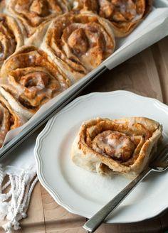 Sweet Potato Sticky Buns best autumn flavored breakfast sweet. Easy cinnamon rolls great for a crowd.