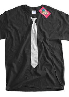 Hipster Skinny White Tie Screen Printed TShirt Tee by IceCreamTees, $14.99