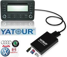 Yatour Digital CD changer USB SD AUX Bluetooth interface for VW Audi Skoda Seat Quadlock 12-pin MP3 Adapter  Interface