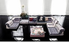 if i had my own retreat room i would have roche bobois mah hong couture sofa in it.