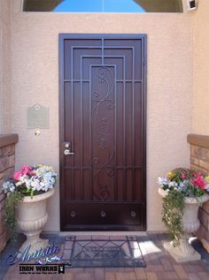 Wrought Iron Security Screen Door - SD0002