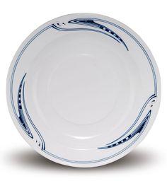 Henry van de Velde. Large 'Whiplash' serving plate, 1903. Made by KPM Meissen, prior to 1924. Porcelain, white, glazed, blue underglaze. Marked: Maker's mark 52., artist's signet, 46. D. 34 cm.  |  SOLD 2,200 EUR, Munich 2013