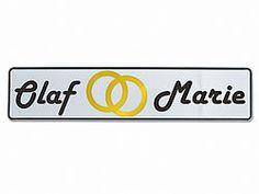 Hochzeits - Nummernschild - Das Autokennzeichen für Ihre Hochzeit