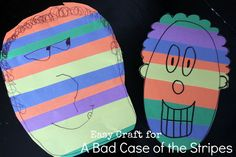 Easy contact paper craft for A Bad Case of the Stripes by David Shannon