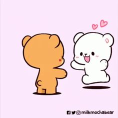 Cute Cartoon Pictures, Cute Love Cartoons, Cute Images, Cute Love Gif, Love Hug, Calin Gif, Bear Gif, Hug Gif, Cute Bear Drawings