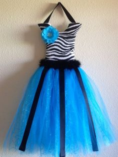 Blue/zebra Tutu Bow Holder from Picsity.com
