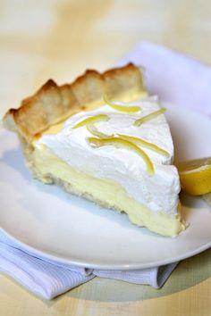 Lemon Sour Cream Pie Slice