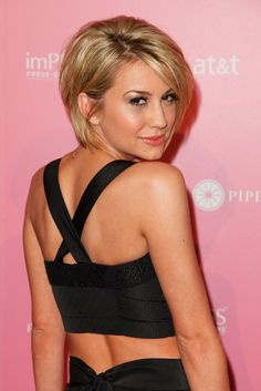 Chelsea Kane - short hair      I like this look on her, wish It would look as good on me