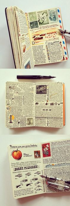 Jose's Moleskine  this looks like it is also a journal but love the writing and it could be travel journal idea. love this
