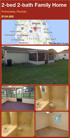 2-bed 2-bath Family Home in Poinciana, Florida ►$104,900 #PropertyForSale #RealEstate #Florida http://florida-magic.com/properties/90198-family-home-for-sale-in-poinciana-florida-with-2-bedroom-2-bathroom