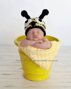 I made my daughter a flower as a newborn. I think it's only appropriate my son will be a bumblebee. Haha