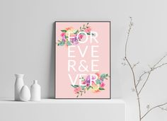 """""""Forever & Ever"""" – turn up the romance with this stylish print. Poster Prints, Posters, Christmas Gifts, Anniversary, Messages, Stylish, Create, Birthday, Romance"""