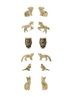 LOVEsick Animal Silhouette Earrings 6 Pair