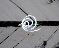 Wire Wrapped Ring Silver Around and Around by LorisWireJewelry, $12.00