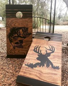 Hunting & Fishing Cornhole Set With Bean Bags Hunting & Fishing Cornhole Set mit Sitzsäcken Deer Hunting Decor, Hunting Crafts, Hunting Art, Coyote Hunting, Pheasant Hunting, Turkey Hunting, Archery Hunting, Hunting Dogs, Cornhole Designs