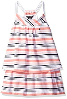 9026f983674 Nautica Baby Stripe Double Tier Dress with Rope Straps