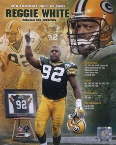 Reggie White, DE - Green Bay Packers: One of the Best! Green Bay Packers Fans, Nfl Green Bay, Go Packers, Packers Football, Best Football Team, Football Memes, Tennessee Football, National Football League, Football Season