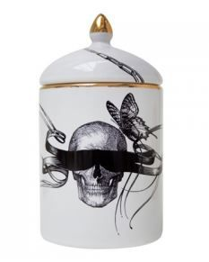 Cosy Candle - Masked Skull & Winged Watch by Rory Dobner