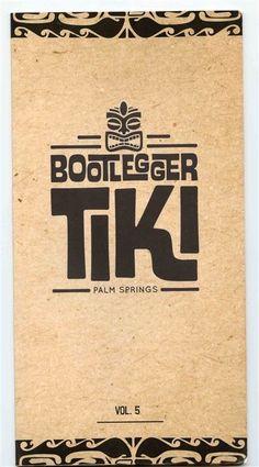 Bootlegger TIKI Drinks Menu Palm Springs California Vol 5