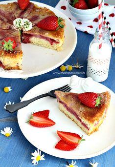 Per la mamma: Torta morbida alle fragole   Chiarapassion