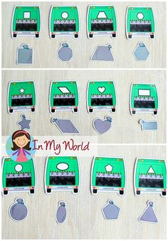 Garbage truck and garbage matching activity. Community Helpers Activities, Kids Learning Activities, Preschool Activities, Space Activities, Number Activities, Preschool Centers, Preschool Lessons, Preschool Classroom, Kindergarten Math