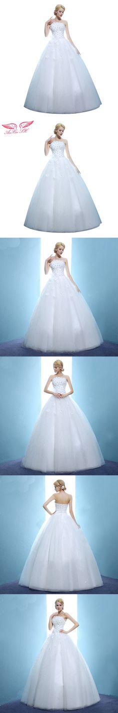 AnXin SH Tube top wedding dress princess bow wedding dress puff slim royal  bride flower wedding dress fe54512bcf62